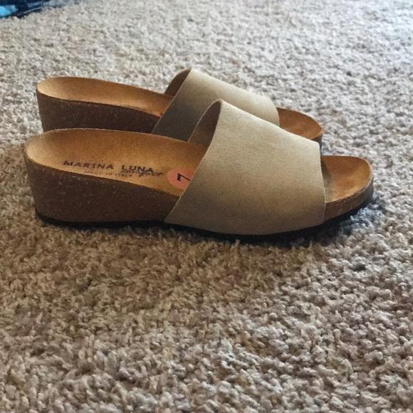9491aa165e marina luna Shoes | Italian Leather Slip On Mules Sandals | Poshmark